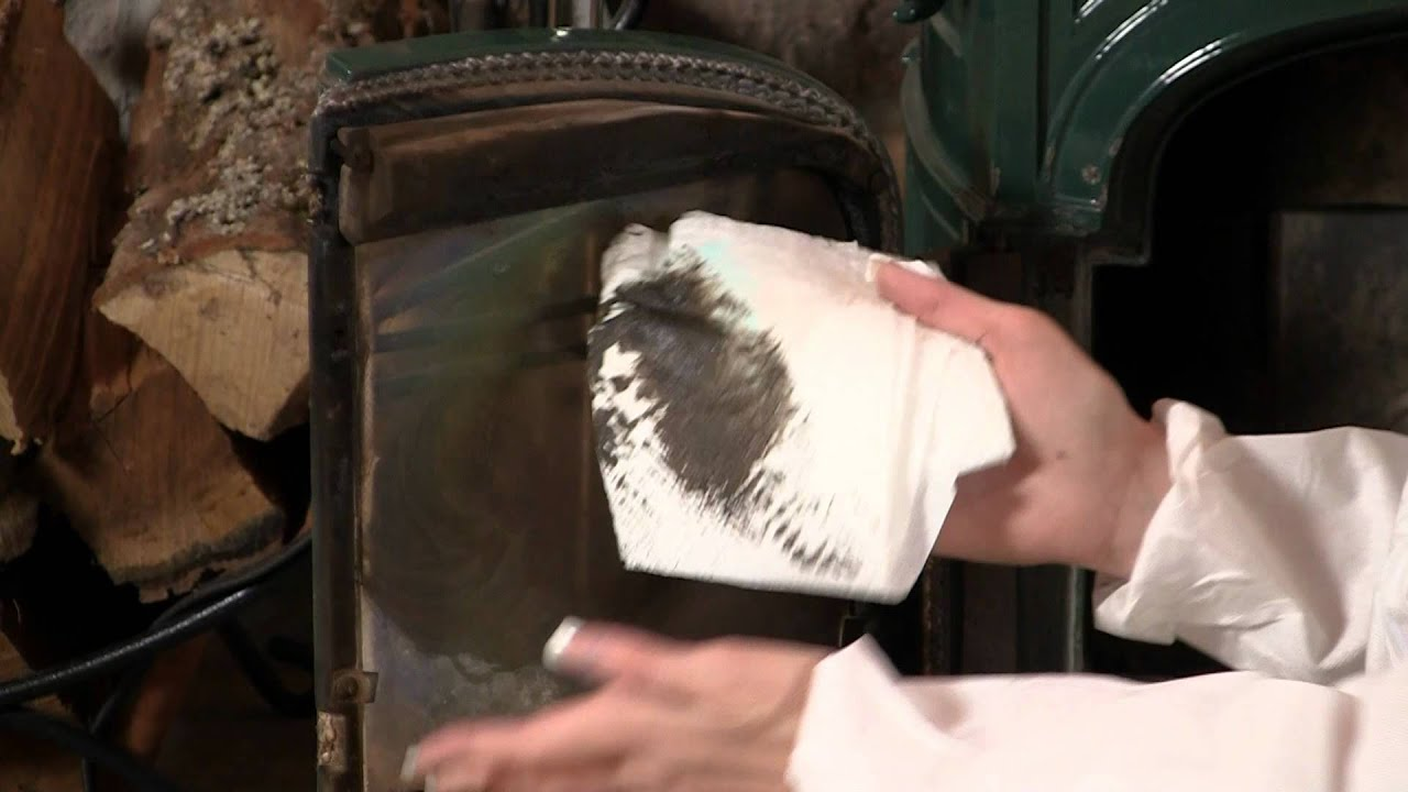 This video demonstrates how to clean the glass on your fireplace glass doors or your woodstove glass. Click here on http://www.northlineexpress.com/item/5RU-...