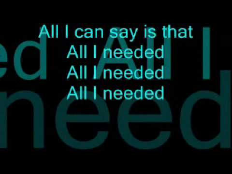 Alex Wolff All I needed with lyrics