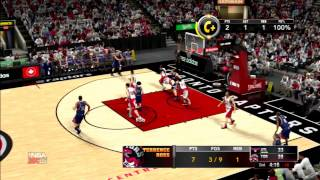 NBA 2K15 PS3 MyCareer Episode 2: Korver staying out of bounds for the open shot