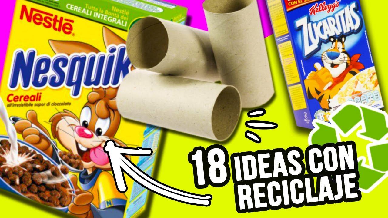 18 Manualidades Con Reciclaje Super Faciles Te Encantaran