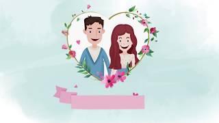 Пример приглашения на свадьбу Артура и Ольги. Свадебное видео на заказ