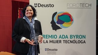 Regina Llopis Rivas. Ada Byron Award for Women in Technology 2017