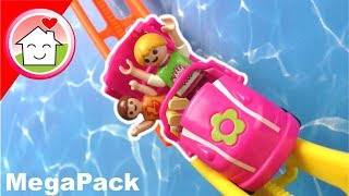 Playmobil Film deutsch - Familie Hauser im Freizeitpark - Mega Pack Video für Kinder