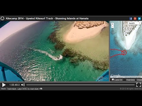 Upwind Kitesurf GPS-Track - Stunning Nature in Hamata (geolocated video by tracksphere.com)