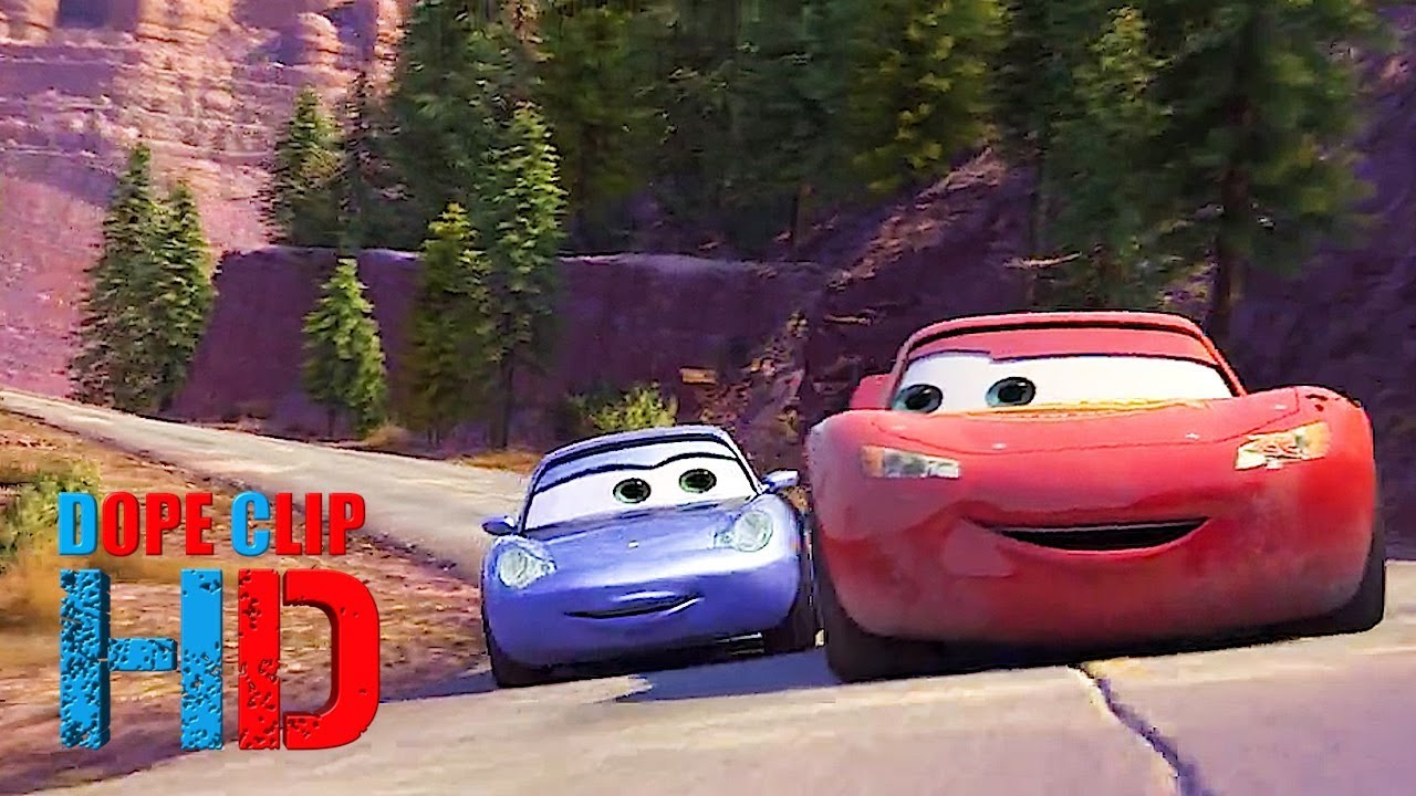 Cars 2006 Mcqueen And Sally Going For A Drive 5 8 Dopeclips