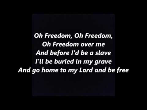 OH FREEDOM Civil Rights LYRICS WORDS BEST Black History month not Odetta or Baez SING ALONG SONGS
