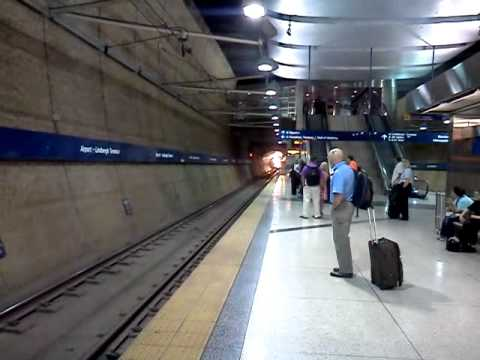 Light Rail Arriving Minneapolis Airport YouTube