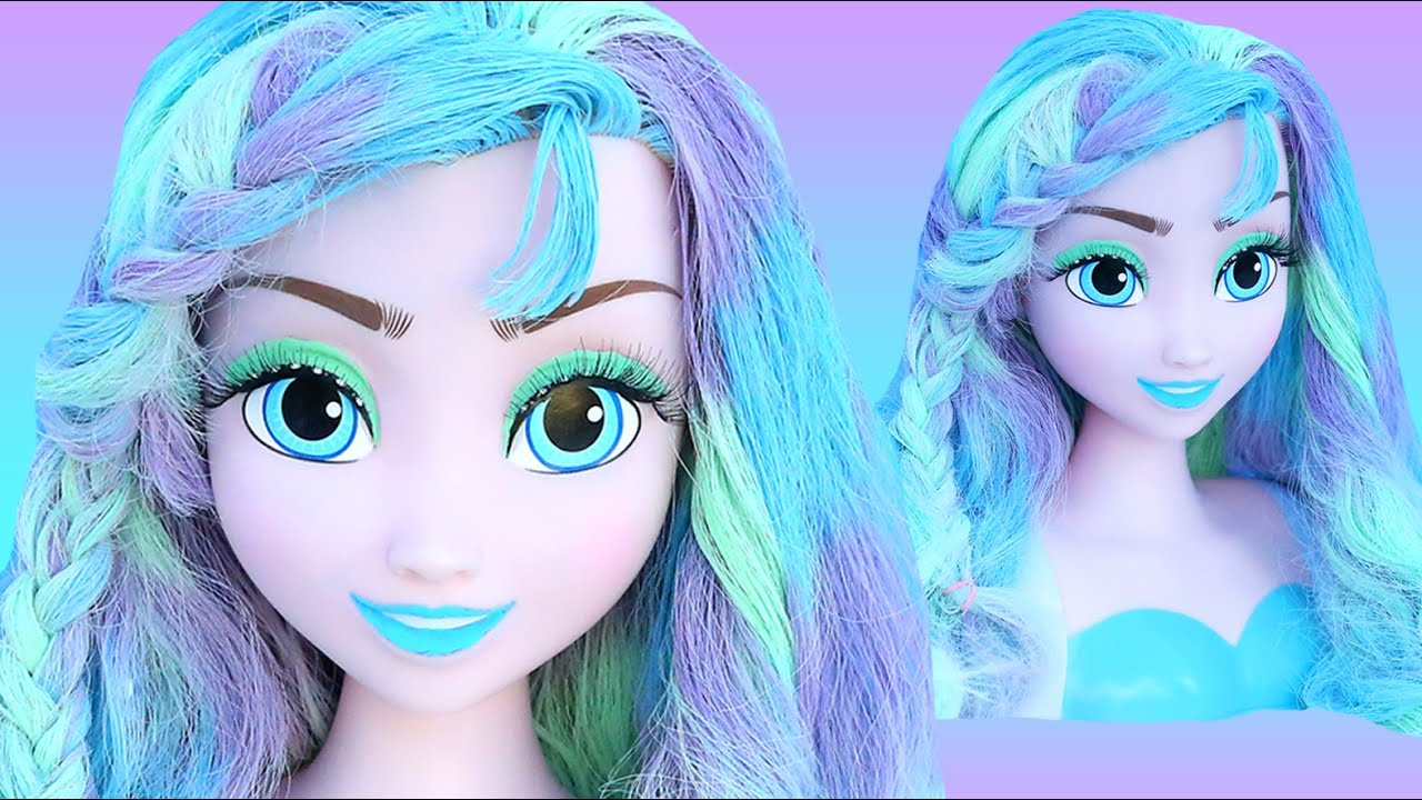 Frozen Elsa Pastel Hair Color Makeover How To Princess Paint Braid