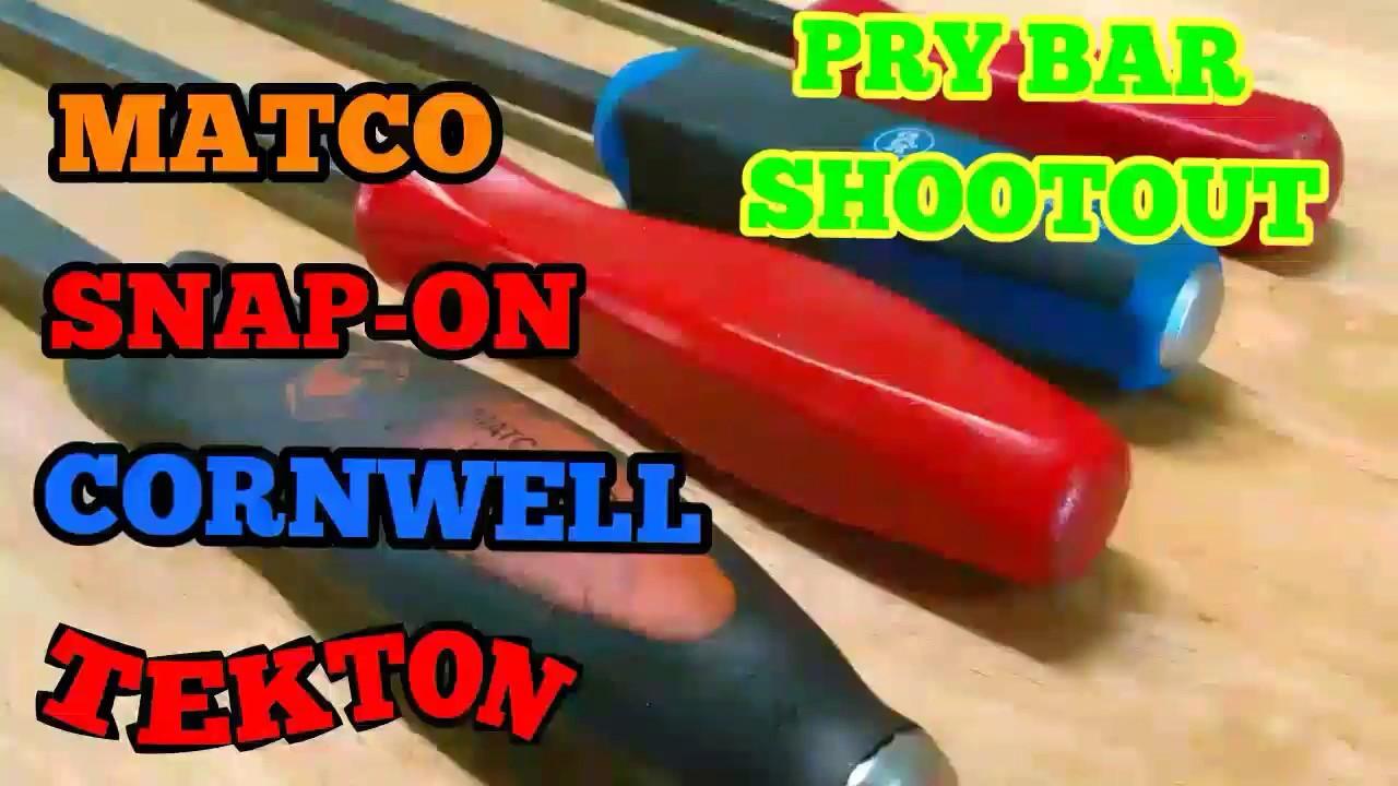 Pry Bar Shootout Snap On Vs Matco Vs Cornwell Vs Tekton Youtube