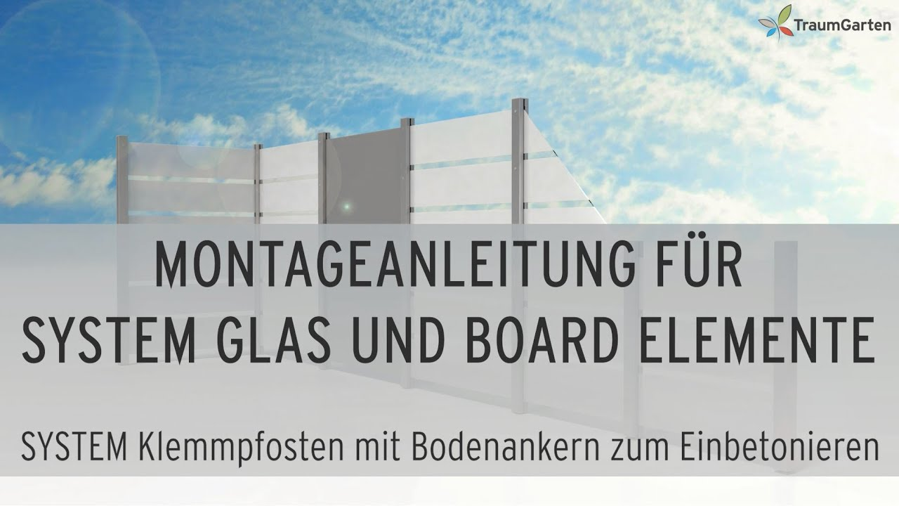 Sichtschutz Montieren System Glas Und Board Zaun Aufbauen