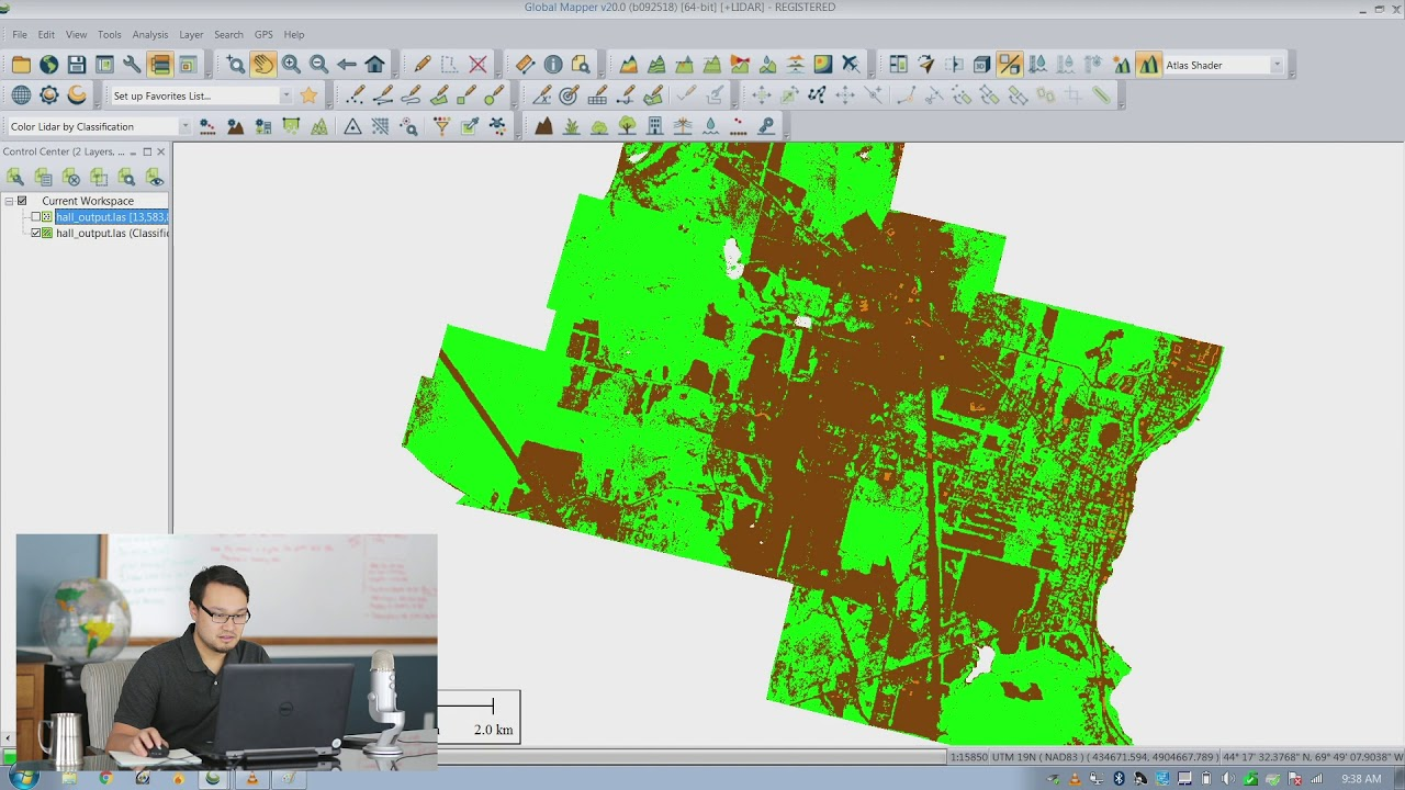 Blue Got Mail - Converting a point cloud that is in LAS format to a GeoTIFF  in Global Mapper