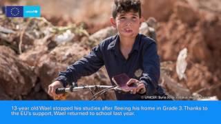 UNICEF - European Union partnership helping #ChildrenofSyria