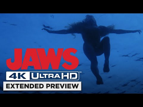 Jaws | Opening Shark Attack in 4K | Own it now on 4K UHD