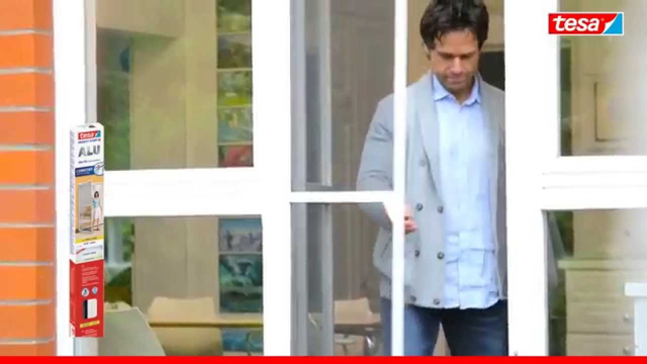 Fantastisch tesa Fliegengitter Alurahmen für Türen, Rahmenfarbe weiß EA - YouTube PA87