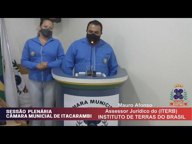 Câmara Municipal de Vereadores de Itacarambi MG Reunião realizada no dia 01/09/2021