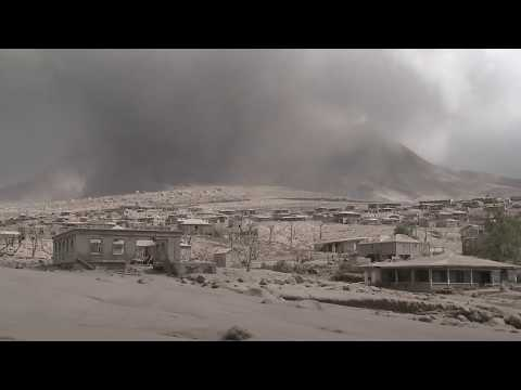 Soufriere Hills volcano: destruction at Plymouth