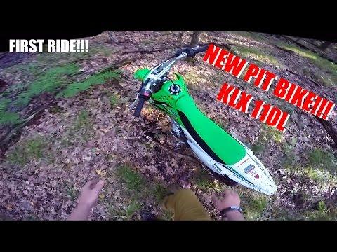 NEW BIKE!! KLX 110L First Ride & REVIEW - KLX 110L Moto Vlog #44