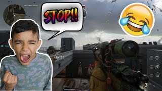 Biggest Rage Ever! Call Of Duty WW2 1v1 Against Little Brother! (Troll)