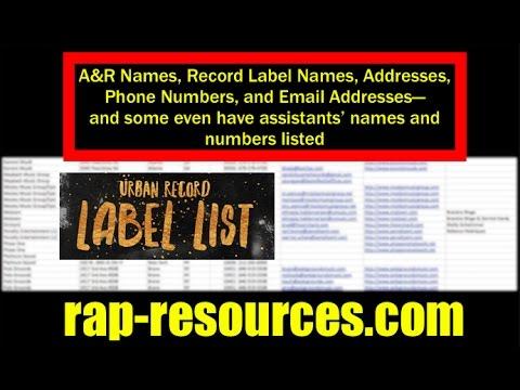 RECORD LABEL LIST | A&R List Rap-Resources com