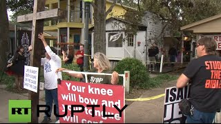 USA: Texan Christians protest first ever