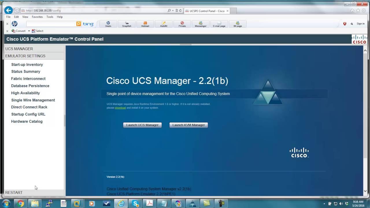 00 - Cisco UCS - How to download and install Cisco UCS Emulator