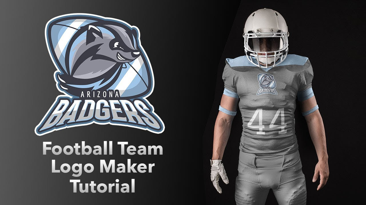 How To Make A Football Team Logo Youtube