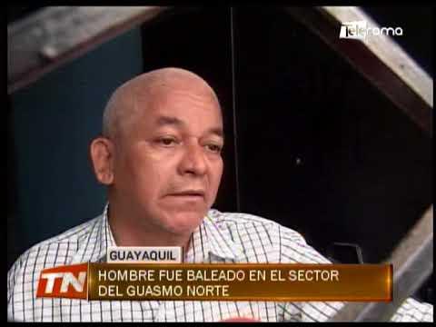 Hombre fue baleado en el sector de Guasmo Norte