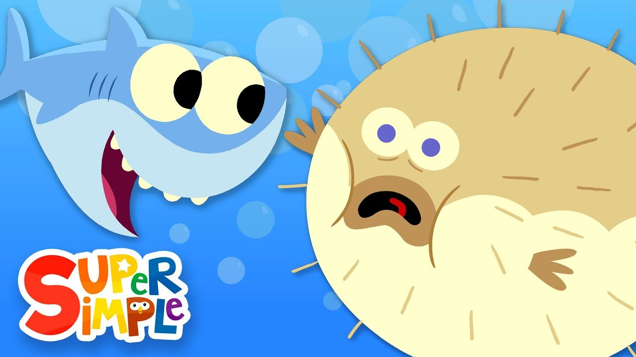 10 Little Fishies Featuring Finny The Shark Kids