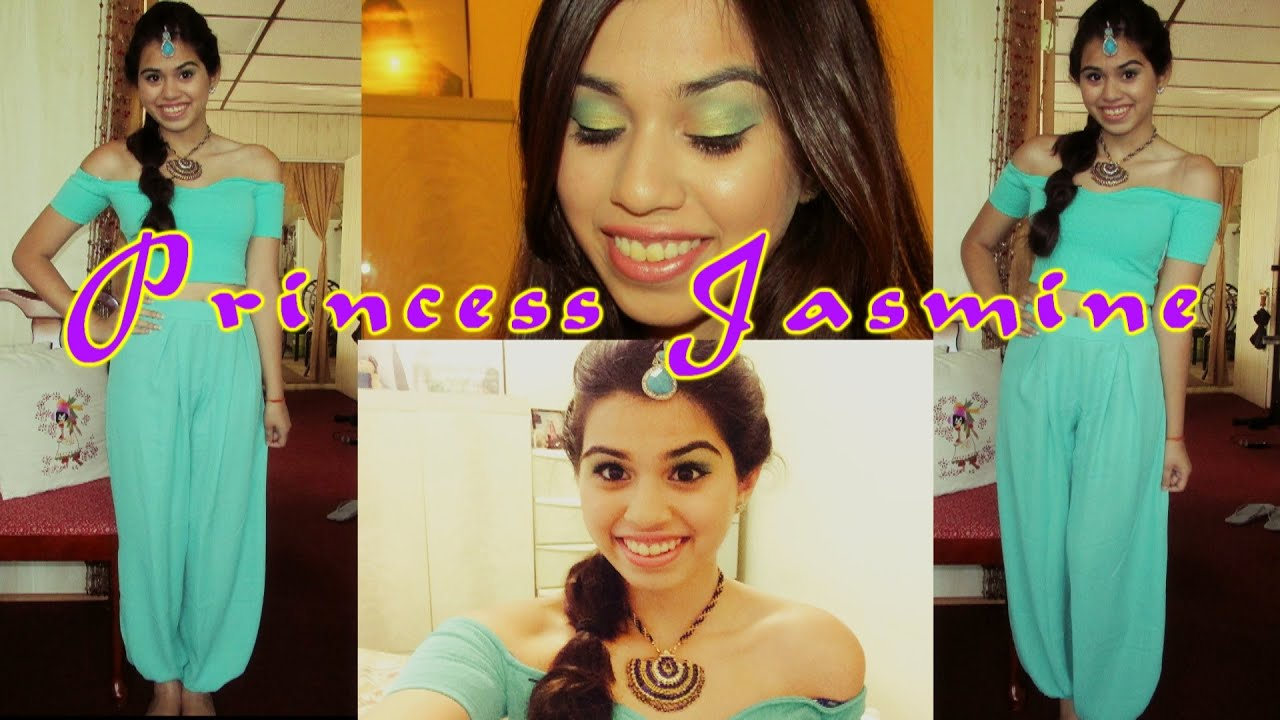 princess jasmine tutorial : makeup, hair + outfit! | halloween 2014