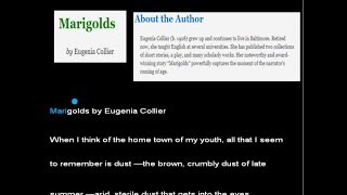 Marigolds by Eugenia Collier w/ Read-Along Text - Same-Language-Subtitling