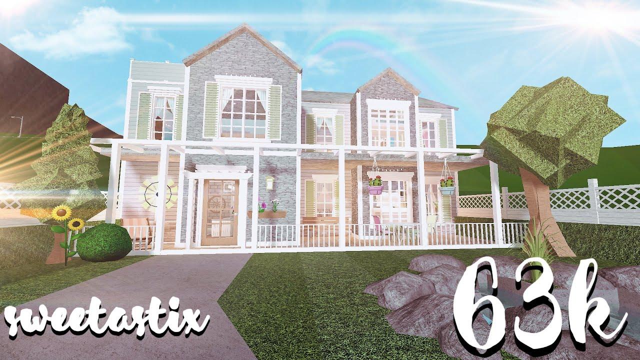 Bloxburg Aesthetic Spring Family Home 63k Youtube