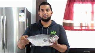 WHOLE FISH BAKED with CARIBBEAN HERBS - CATCH & COOK  Almaco Jack - Trinidad Fishing