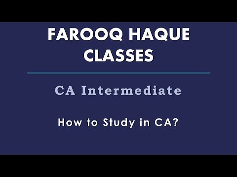 02  How to Study for 100% success in CA INTER