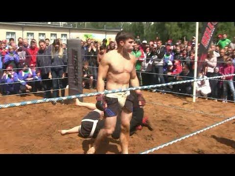 Schoolboy vs Street Fighter !!! Crazy Power !