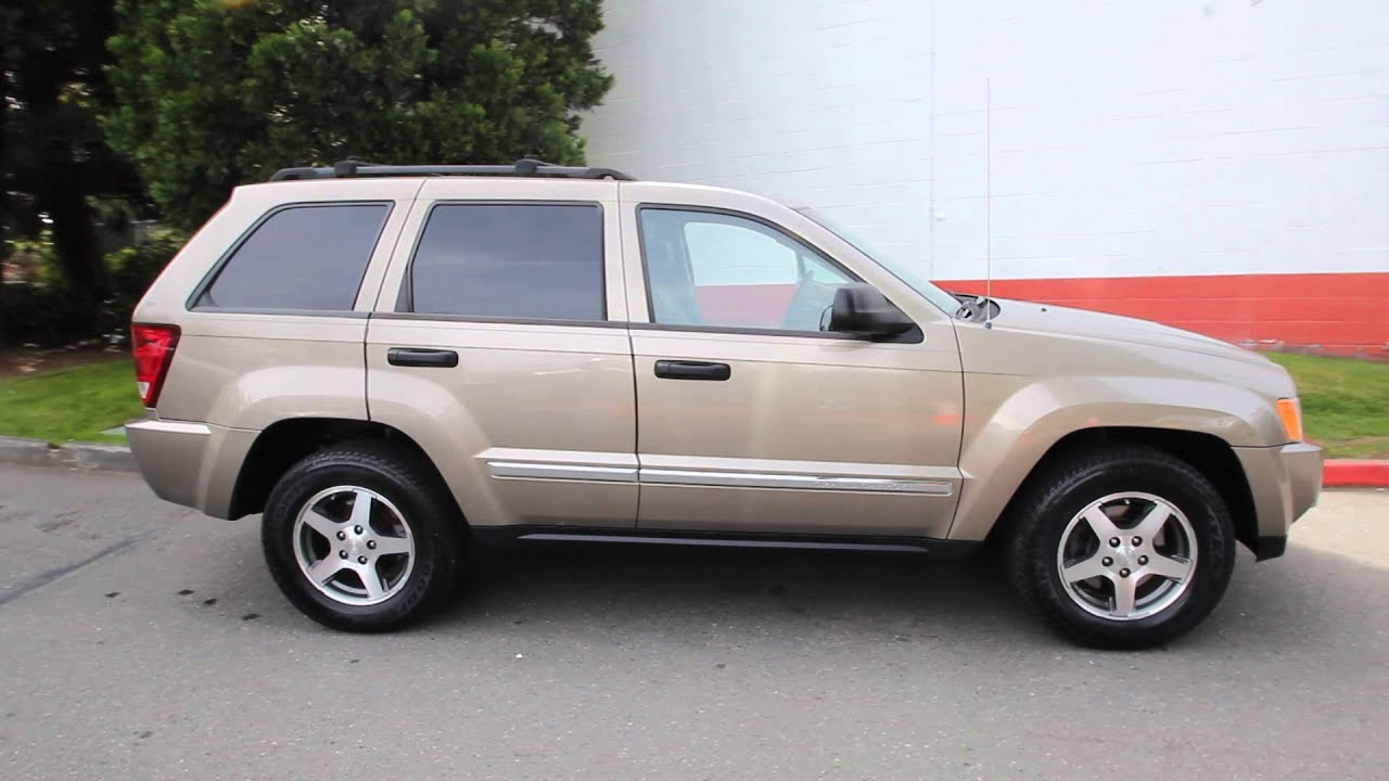2005 jeep grand cherokee laredo 4 7l v8 light khaki 5c687061 seattle bellevue youtube. Black Bedroom Furniture Sets. Home Design Ideas