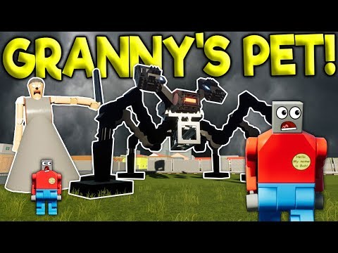 GRANNY'S NEW PET ROBOT SPIDER SURVIVAL! - Brick Rigs Challenge Gameplay - Lego Granny Survival