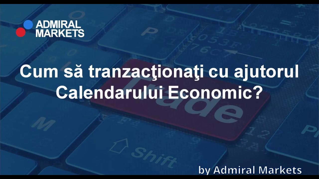 tranzacționarea în calendarul de știri economice)