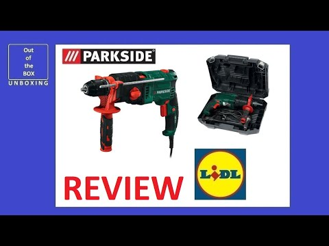Parkside 2-Speed Hammer Drill PSBM 1100 A1 REVIEW (Lidl 1100W 40mm wood 16mm concrete 13mm steel)