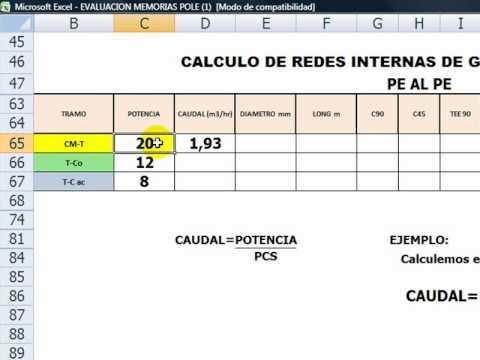 Curso paso a paso calculo red red de gas en pe al pe paso for Calculadora de redes