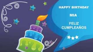 Mia - Card Tarjeta - Happy Birthday