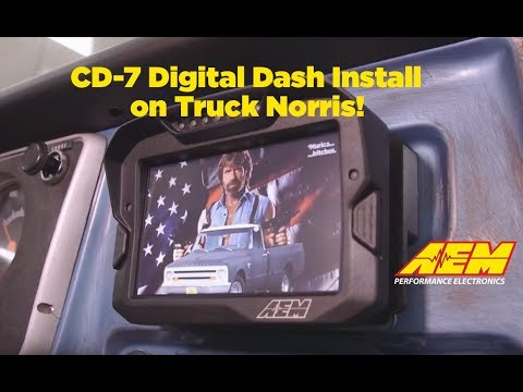 AEM CD-7 Dash Installation On Car Craft's Truck Norris C10!