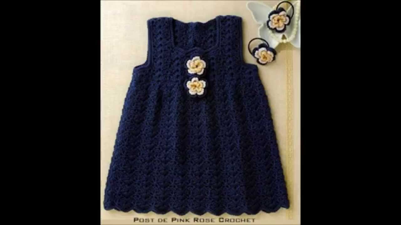 How to Crochet a baby dress easy - YouTube