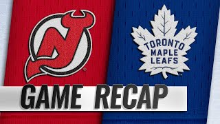 Six different Maple Leafs score in rout of Devils
