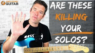 5 Common Mistakes Beginner and Intermediate Lead Guitar Players Always Make!
