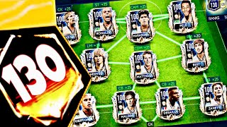130 OVR ! Highest rated teams in fifa Mobile 19|Best cheapest way to upgrade masters and prime icons