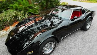 1980 Black Corvette with Red interior, manual, from THE VETTE NET