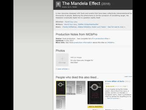 Mandela effect  video made for  David Guy Levy