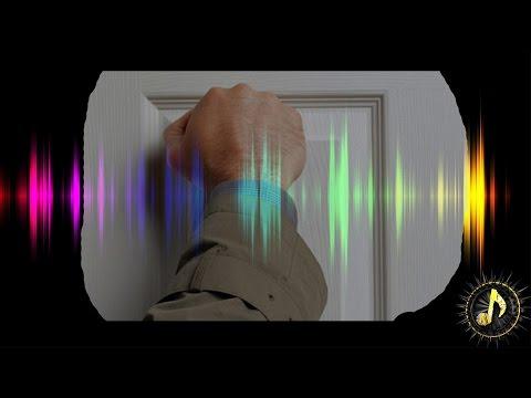 Knife slice into flesh sound effect funnydog tv for Door knocking sound