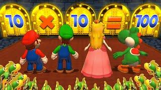 Mario Party 9 MiniGames - Luigi Vs Mario Vs Peach Vs Daisy (Master Cpu)