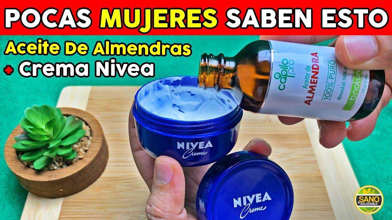 Contorno De Ojos Casero Con Crema Nivea y Aceite De Almendras, Elimina Arrugas, Ojeras y Bolsas
